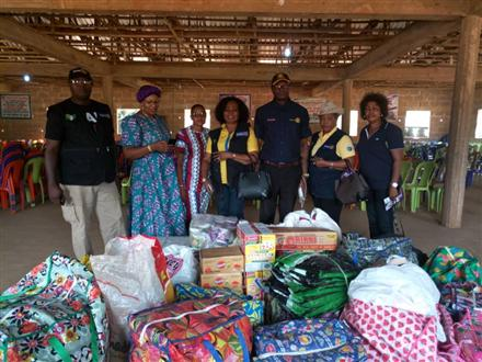 Donation of items to internally displaced persons.