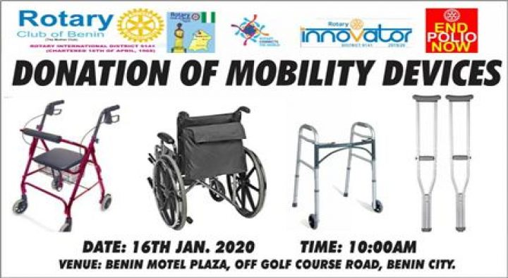 DONATION OF MOBILITY DEVICES
