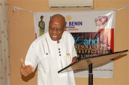 Lecture addressing Peace and Conflict Resolution