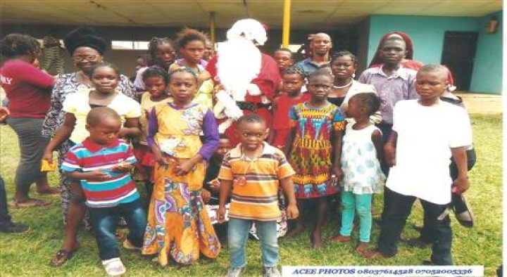 Christmas Party at School for Physically Challenged