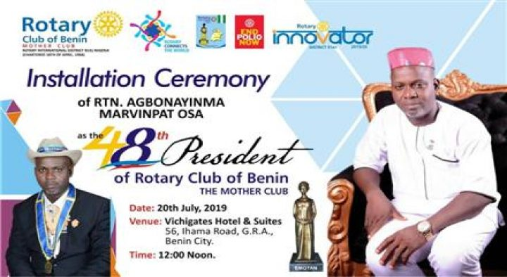 Installation Of The 48th Rotary President