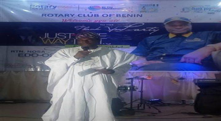 Rotary Club of Benin celebrates its President