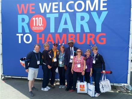 Rotary Club of Benin represented in Hamburg