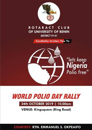 World Polio Day: Rota-UniBen