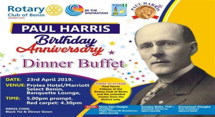 Rotary Club of Benin celebrates Paul Harris
