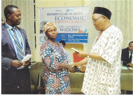 Donation to Five Indigent Widows