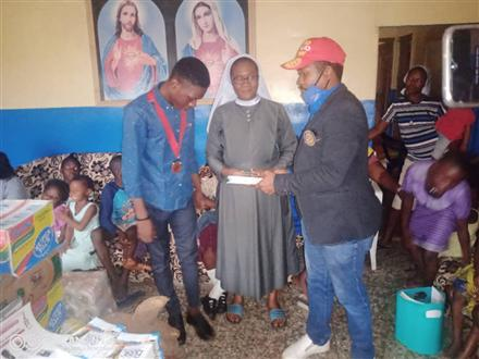 DISTRIBUTION OF EDUCATIONAL /RELIEF MATERIALS
